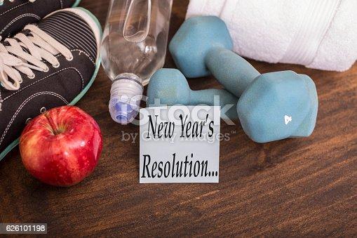 1070617536 istock photo New Year's Resolution to get healthy. 626101198