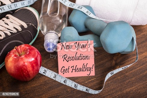 1070617536 istock photo New Year's Resolution to get healthy. 626259826