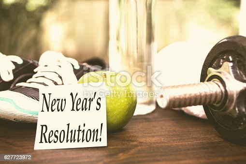 1070617536 istock photo New Year's Resolution to get healthy. 627723972