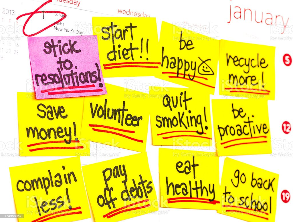 New Year's Resolutions 2013 royalty-free stock photo