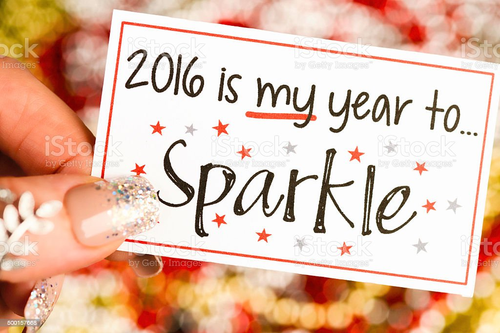 New Year's Resolutions 2016: My year to sparkle stock photo