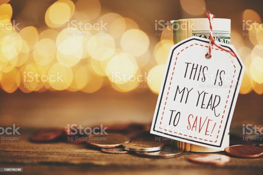 Silvester Resolutionen 2019. Jahr zu sparen – Foto