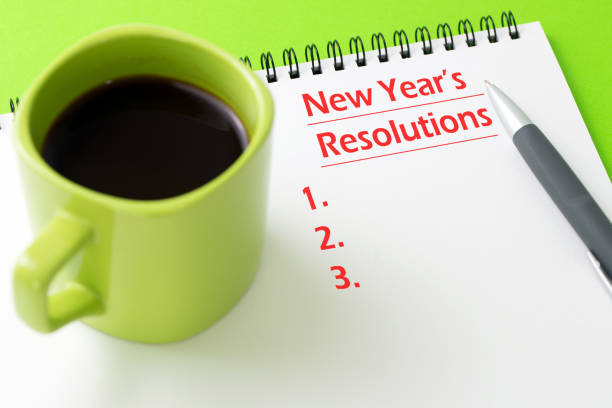 New year's resolutions concept stock photo