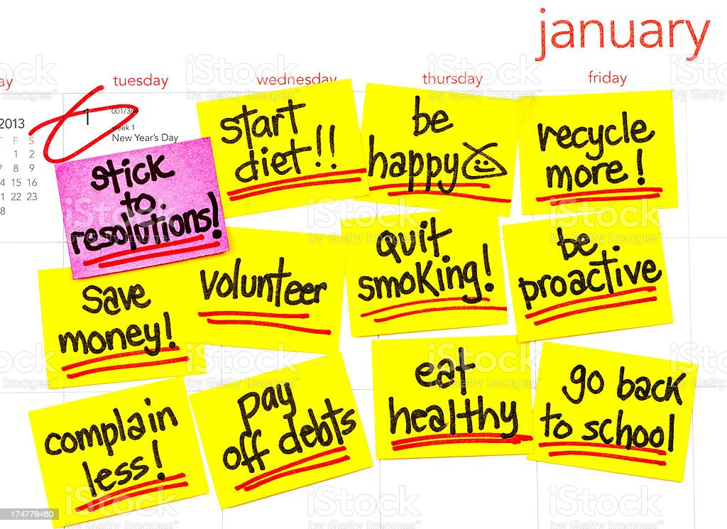 New Year's Resolutions for 2013 royalty-free stock photo
