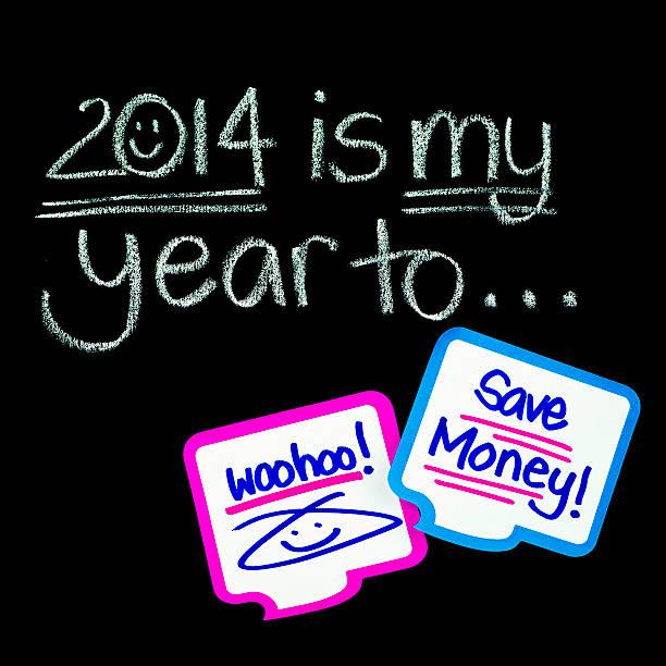 neues jahr, gute vorsätze für 2014: sparen sie geld - bundeshaushalt 2014 stock-fotos und bilder