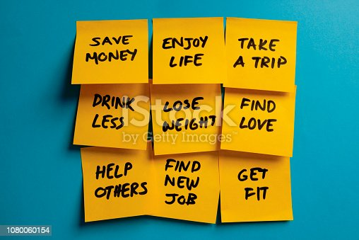 478203597 istock photo New Year's Resolutions 1080060154