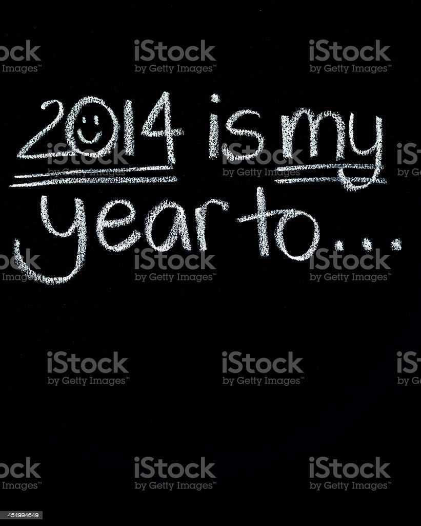New Year's Resolutions Planning 2014 royalty-free stock photo