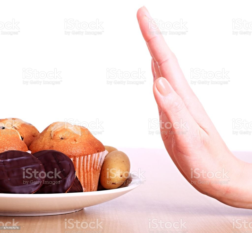 new year's resolutions unhealthy food stock photo