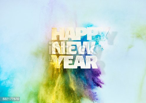 istock New Years sign on wall 532177570
