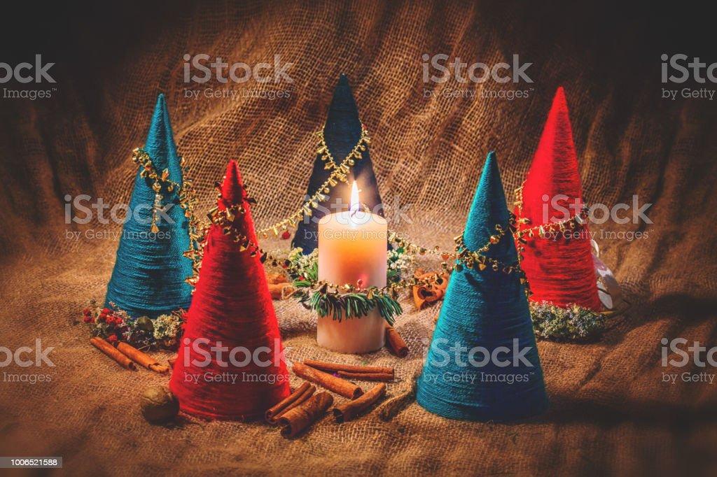 New Year's still life. stock photo