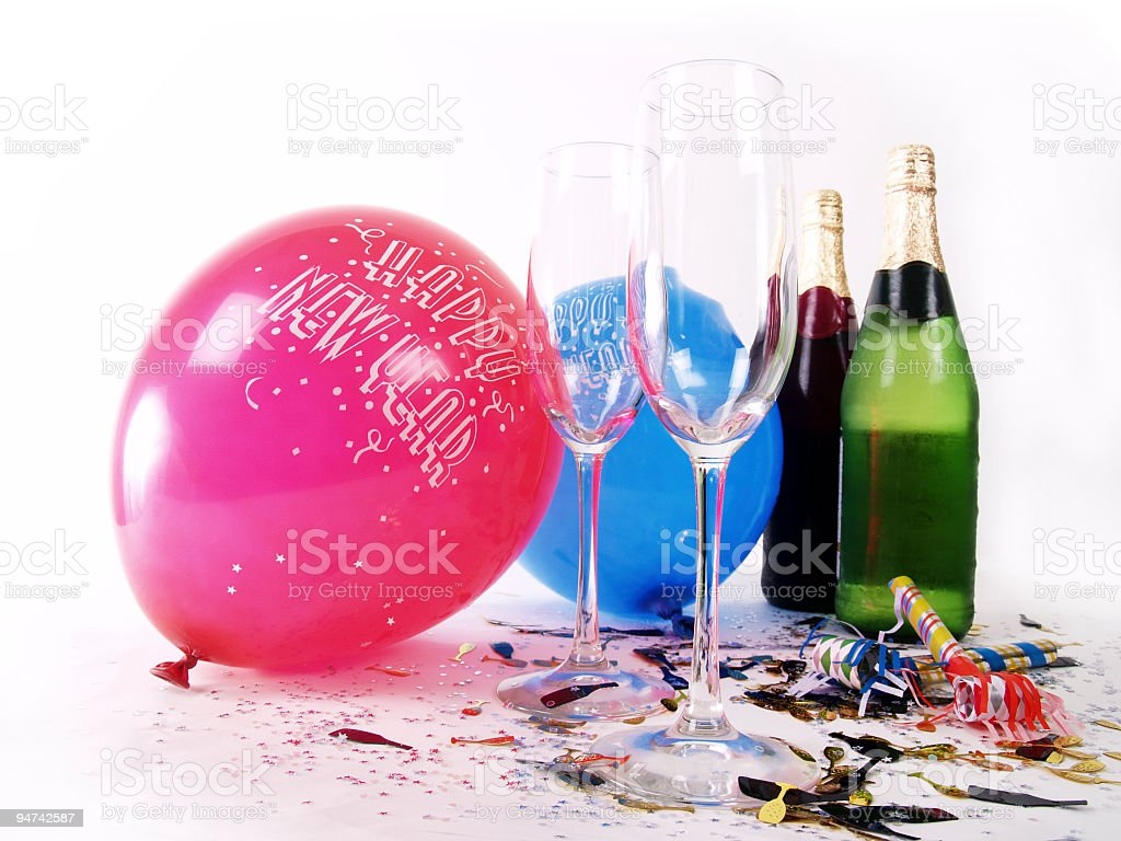 New Years Supplies royalty-free stock photo