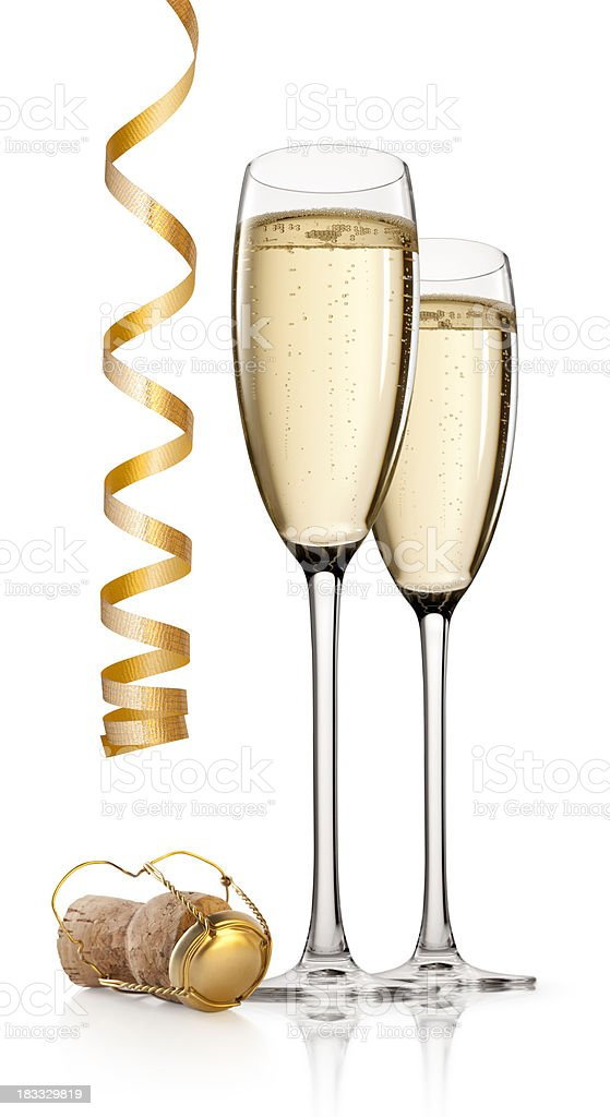 New Year's toast royalty-free stock photo