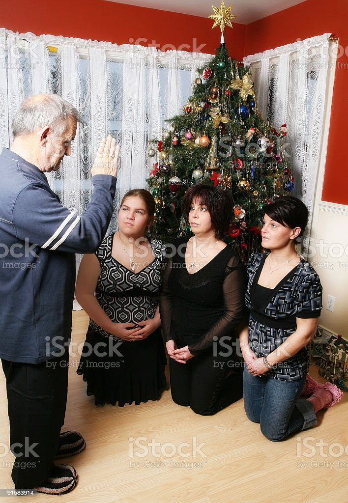 New year's tradition stock photo