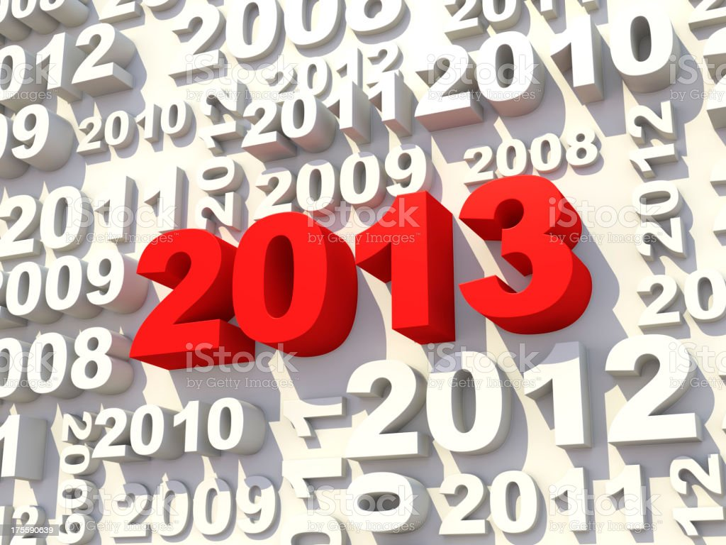 2013 new year's wall royalty-free stock photo