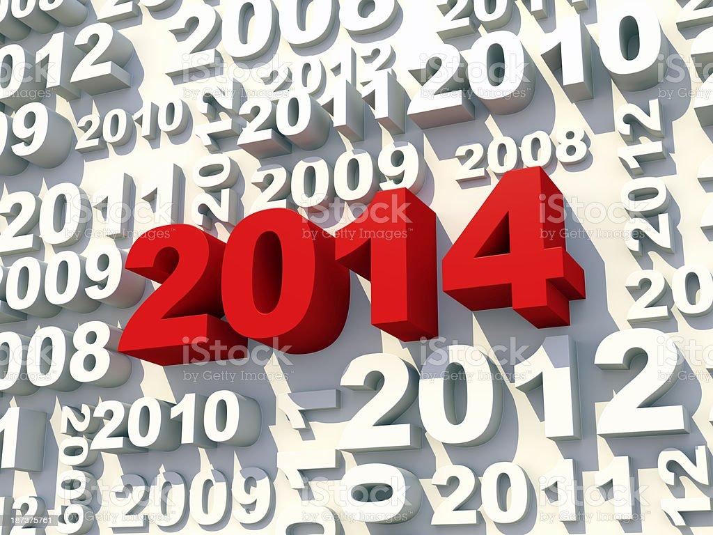 2014 new year's wall stock photo