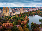 New York landmark aerial view from the Central park