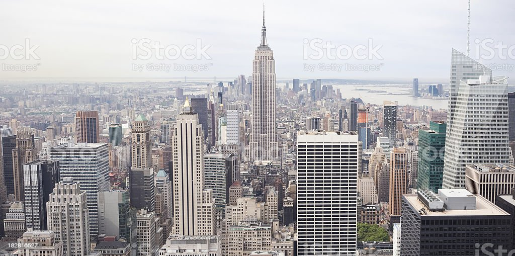 New York aerial view. royalty-free stock photo