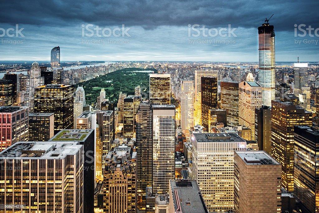 New York Aerial View stock photo