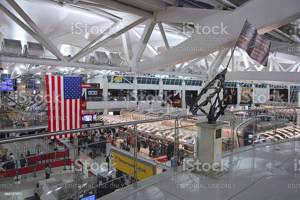 Aeropuerto de la ciudad de Nueva York - foto de stock
