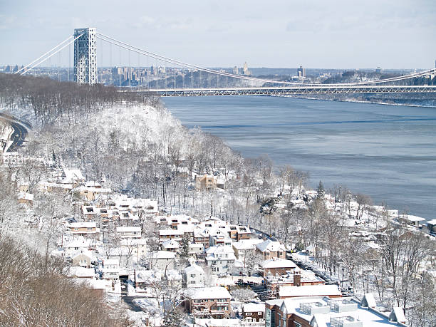 New York and Jersey after Snowstorm Nemo stock photo