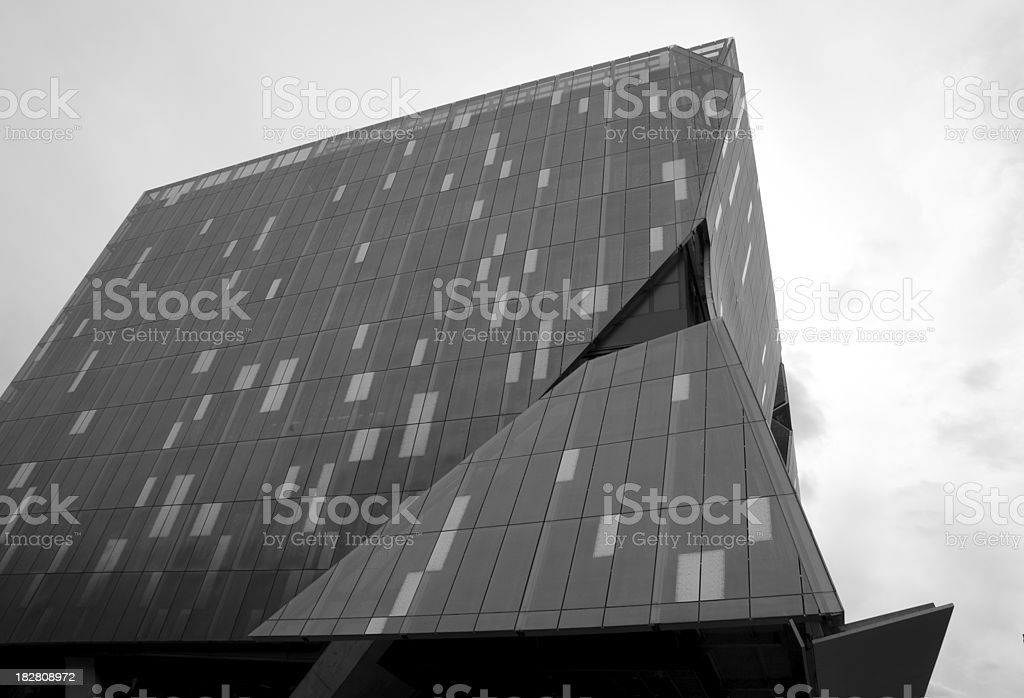 New York Architecture Black and White Series: Modern Building royalty-free stock photo