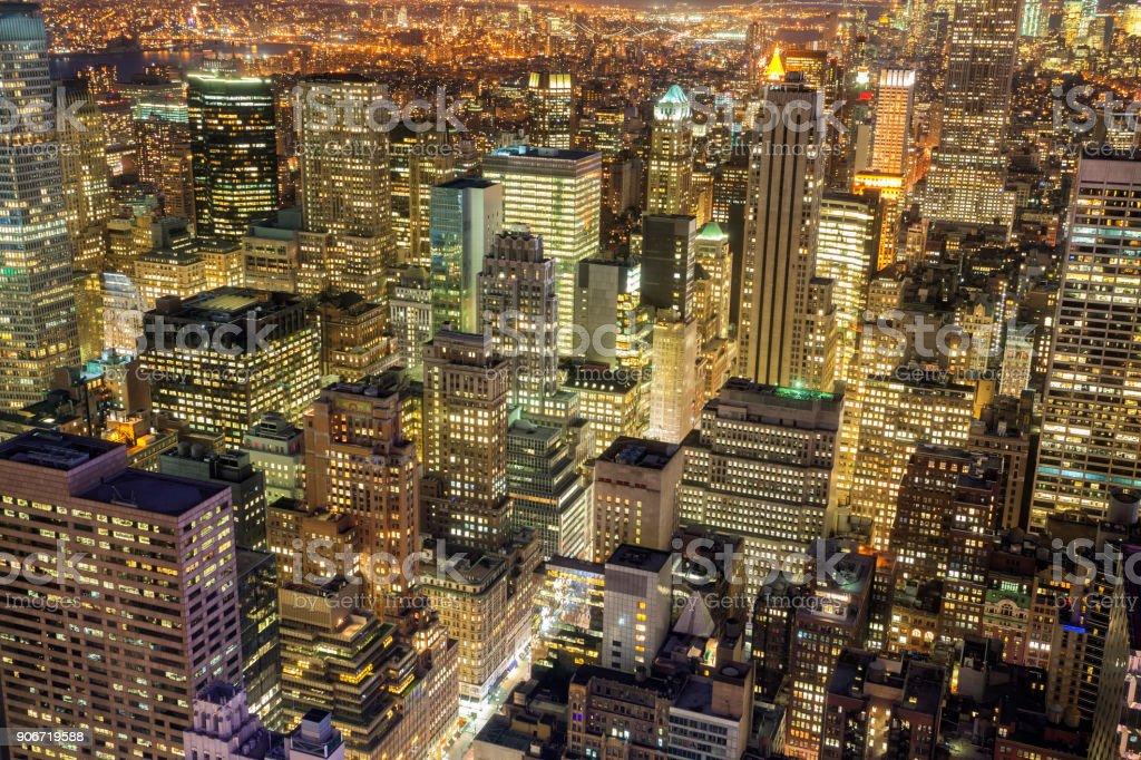 New York bei Nacht – Foto