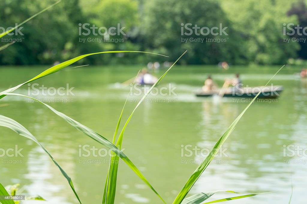 New York Background Rowers stock photo
