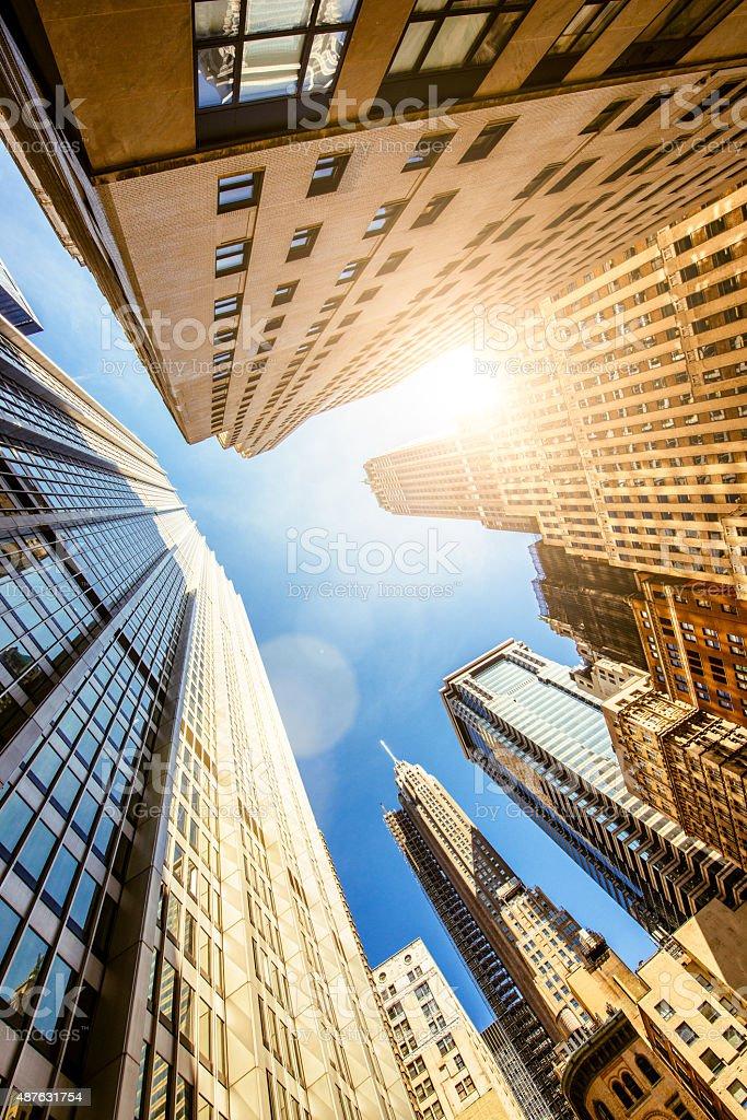 New York Banking Buildings stock photo