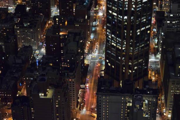 New York bei Nacht stock photo