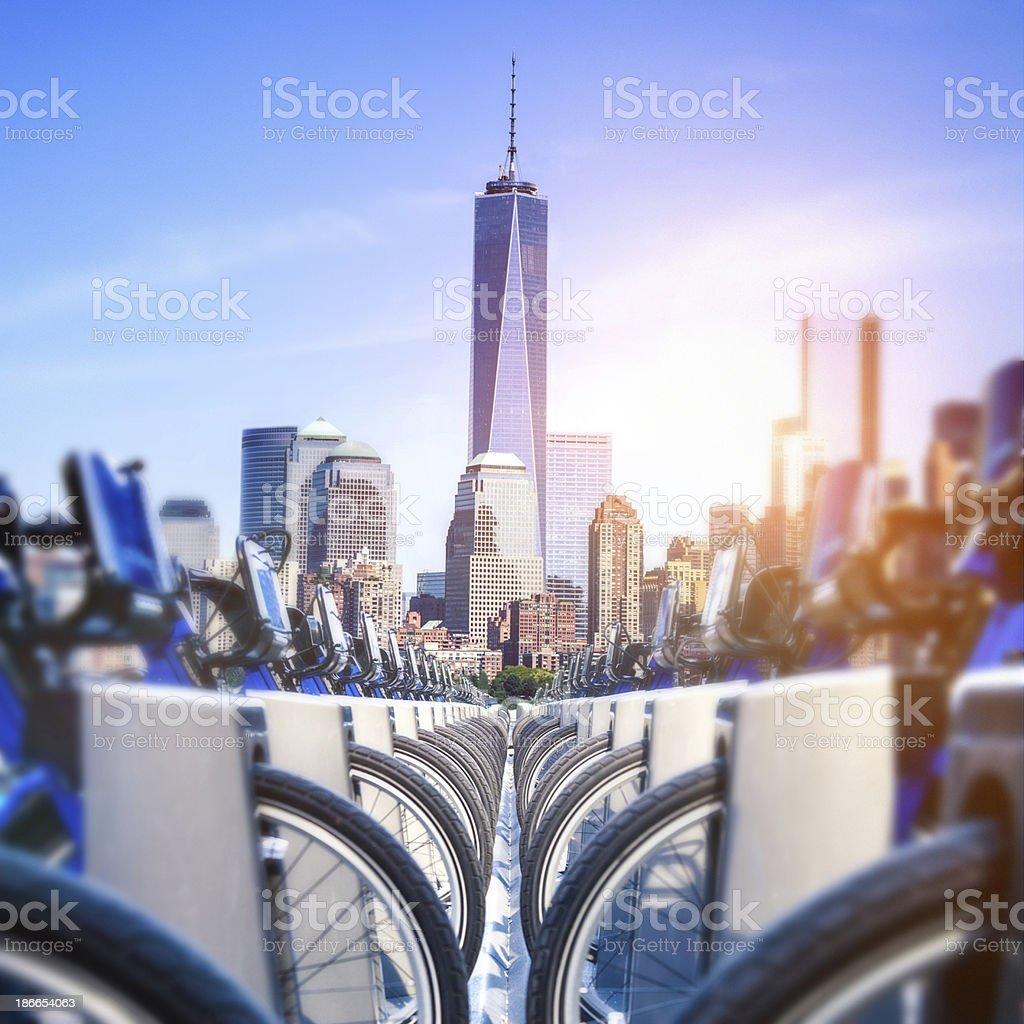 New York bikes for rent royalty-free stock photo