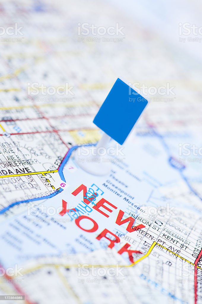 New York blank sign close up royalty-free stock photo