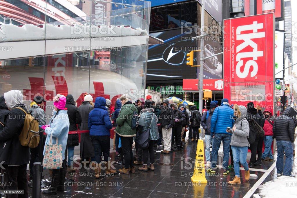 New York Blizzard stock photo