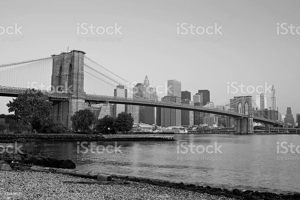 New York Brooklyn Bridge East River royalty-free stock photo