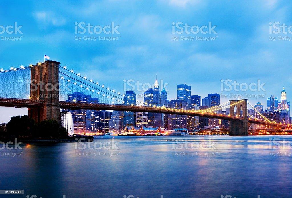 New York - Brooklyn Bridge royalty-free stock photo