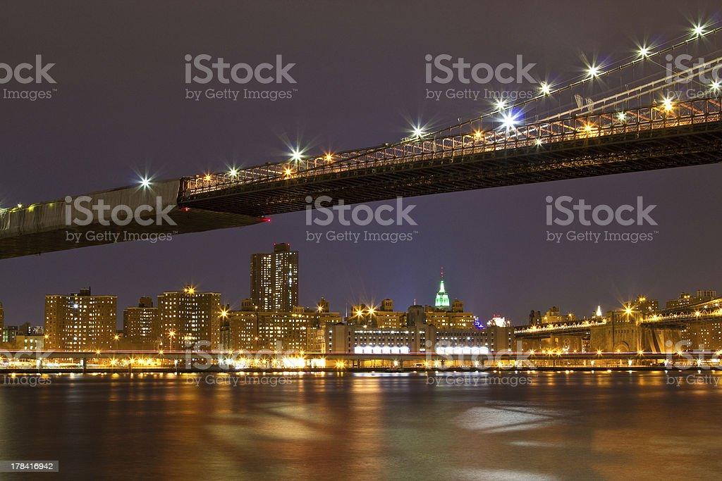 New York Brooklyn Bridge royalty-free stock photo