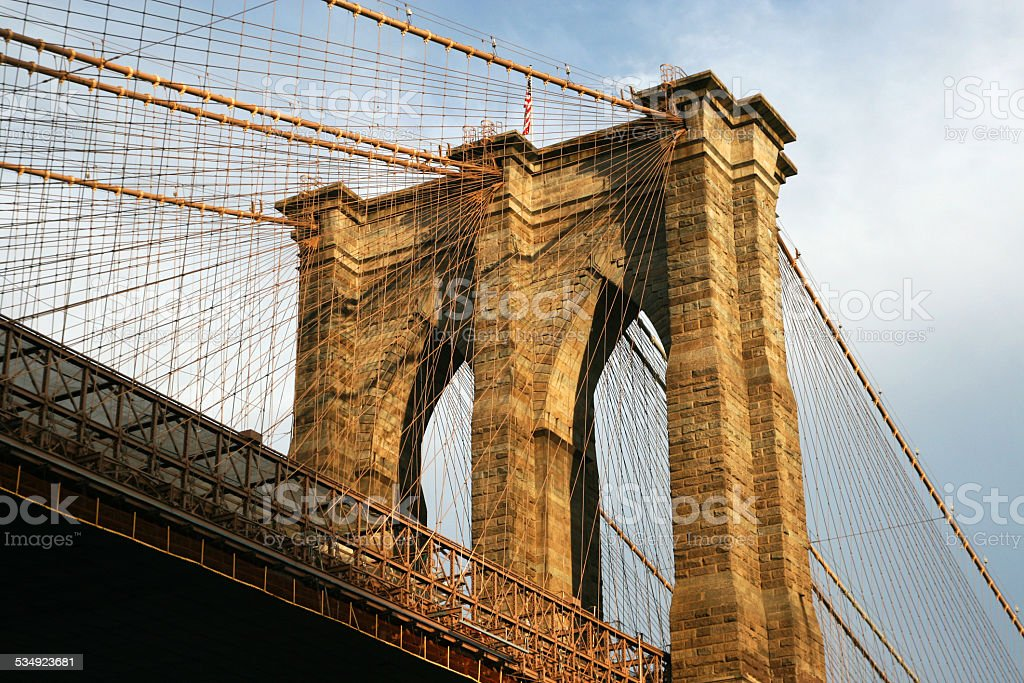 New York Brooklyn Bridge stock photo