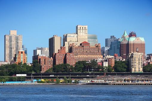 Brooklyn skyline. New York City landmarks. New York architecture.