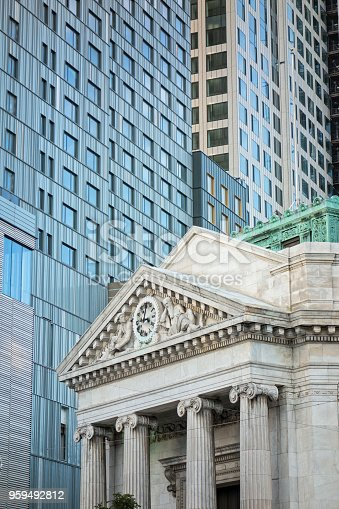 Detail from New York buildings