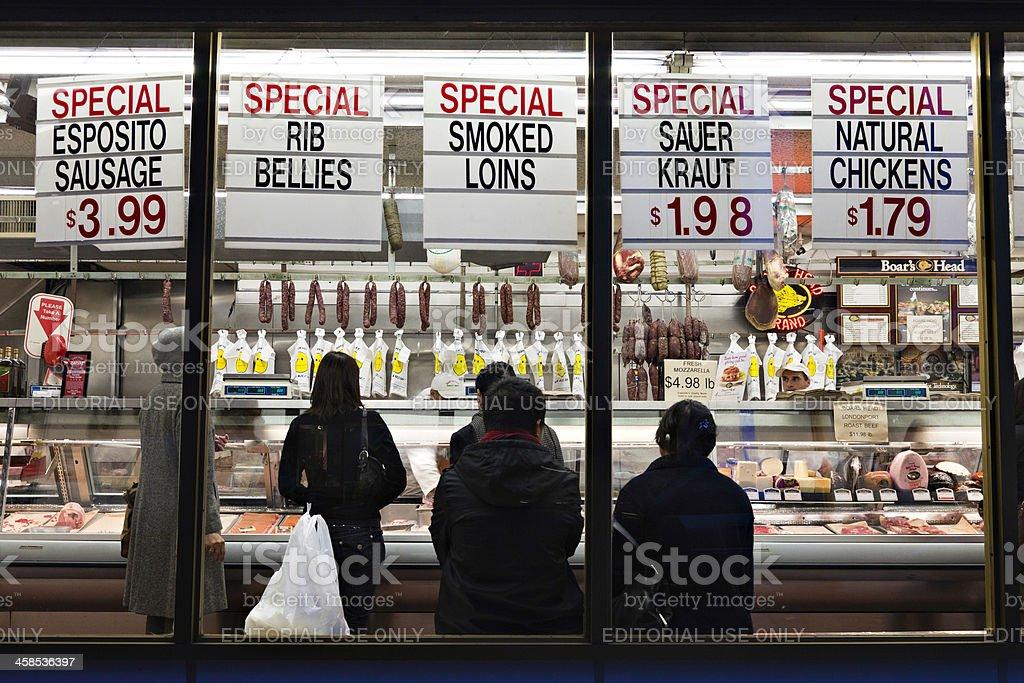New York Butcher Shop royalty-free stock photo