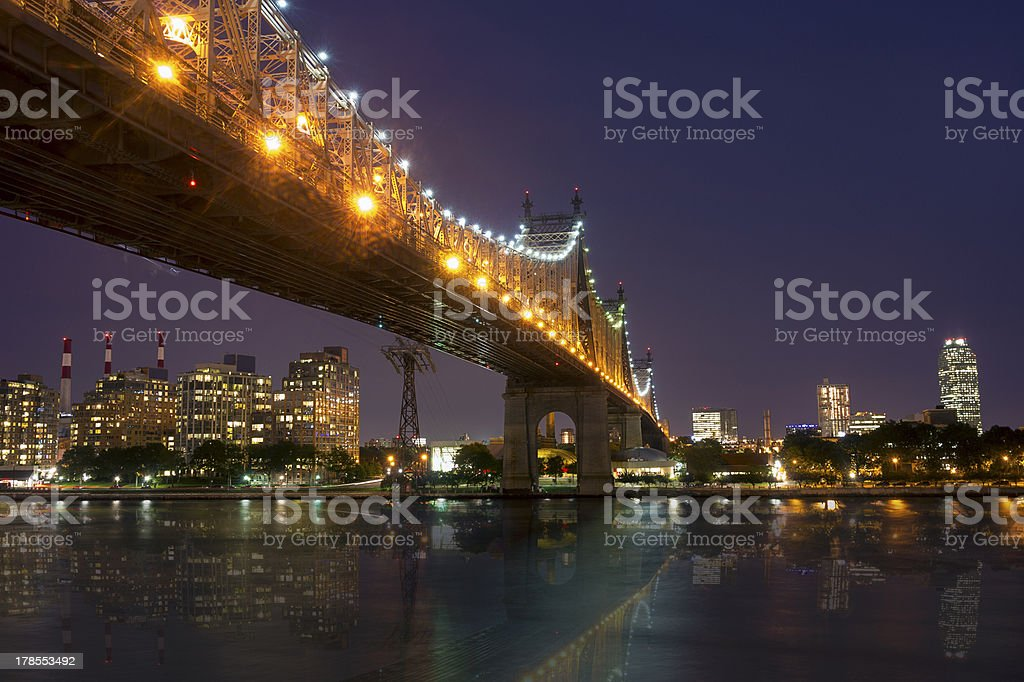 New York by night - Midtown of Manhattan royalty-free stock photo