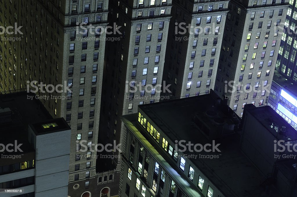 New york by night royalty-free stock photo