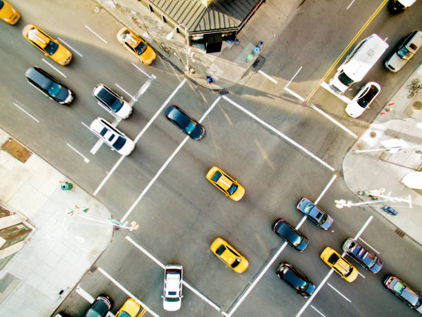 new york cars - traffic stock photos and pictures