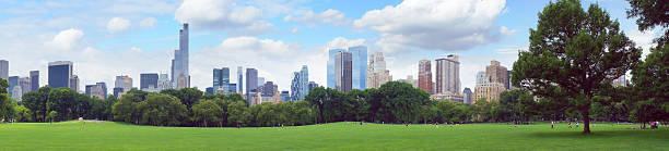 New York Central Park panorama stock photo