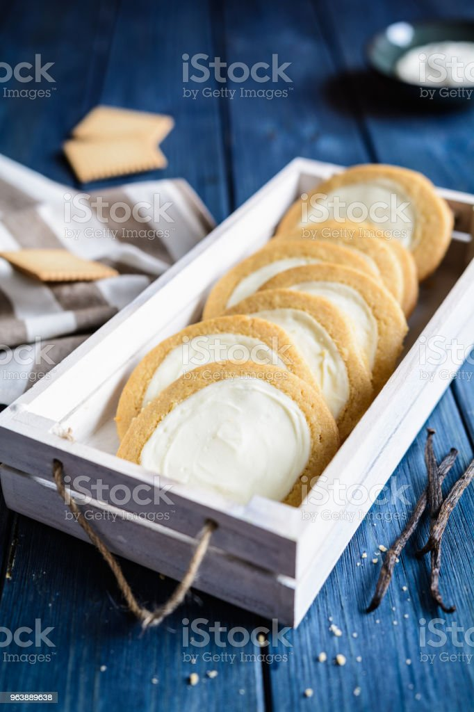 New York cheesecake cookies filled with cream cheese - Royalty-free Baked Stock Photo