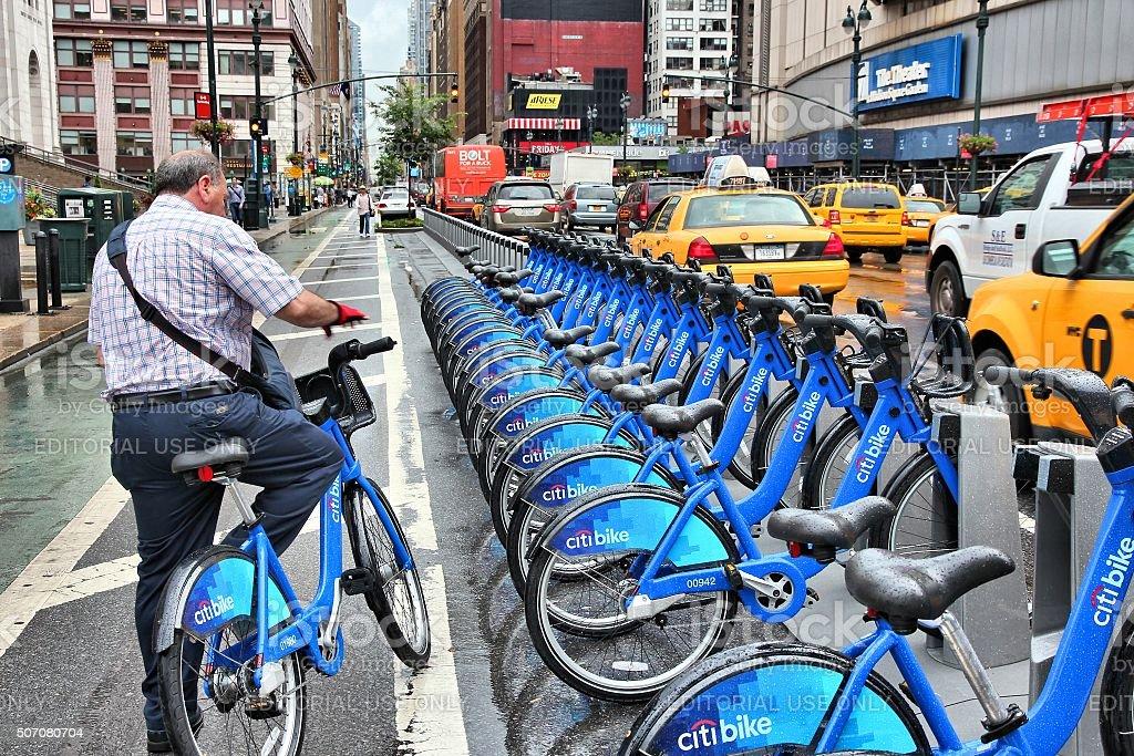 New York Citibike stock photo