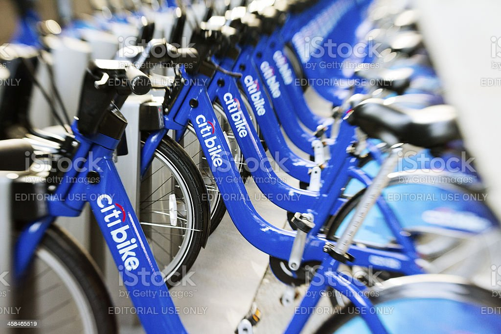 New York citibike station stock photo