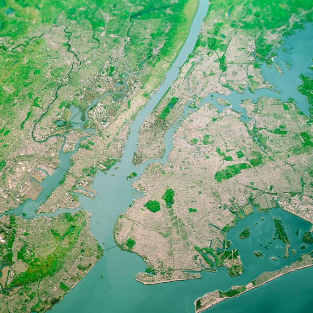 New York City 3D Render Topo Landschaftsansicht aus Dem Süden Apr 2019 – Foto