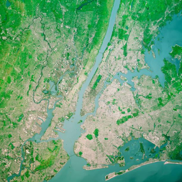 New York City 3D Render Topo Top Ansicht Apr 2019 – Foto