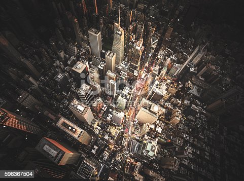 istock new york city aerial view of the downtown 596367504