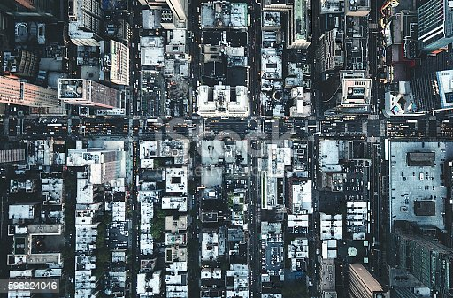 598224046 istock photo new york city aerial view of the downtown 598224046